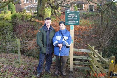 Signpost 318 unveiling at Jumble Farm Glossop