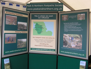 Society stand at Cheshire Show